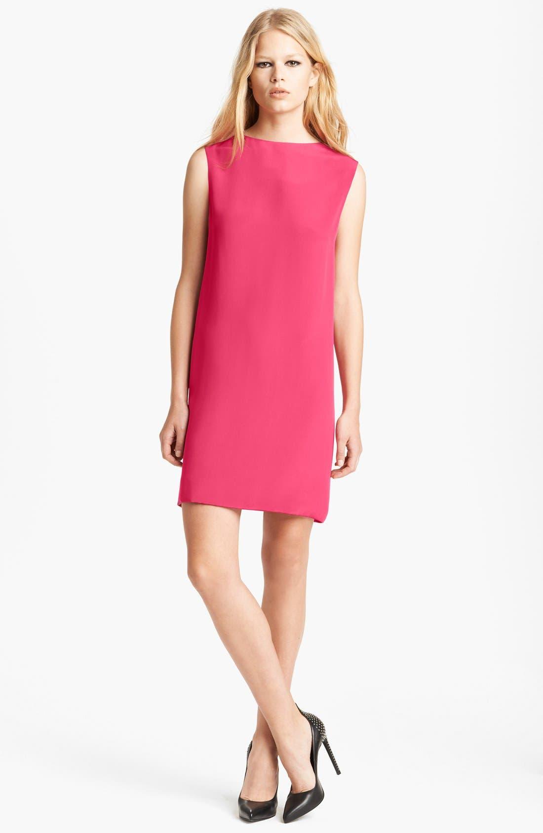 Main Image - Saint Laurent Cowl Back Silk Dress