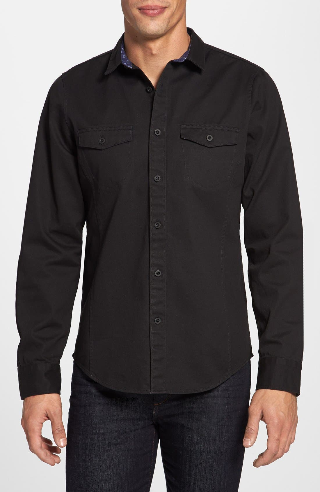 Alternate Image 1 Selected - Public Opinion Trim Fit Denim Sport Shirt