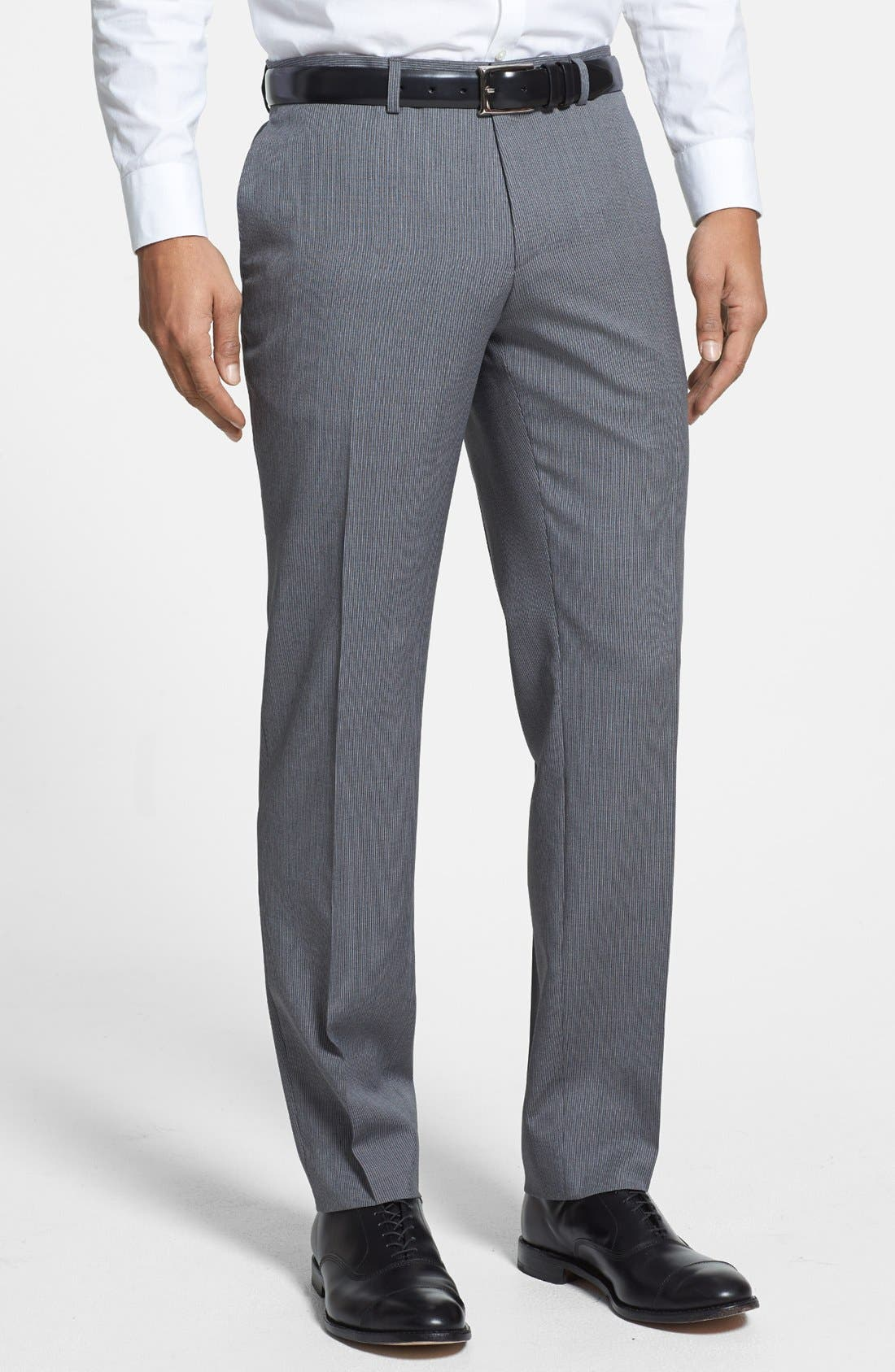 Alternate Image 4  - BOSS HUGO BOSS 'Ryan/Win' Extra Trim Fit Stripe Suit
