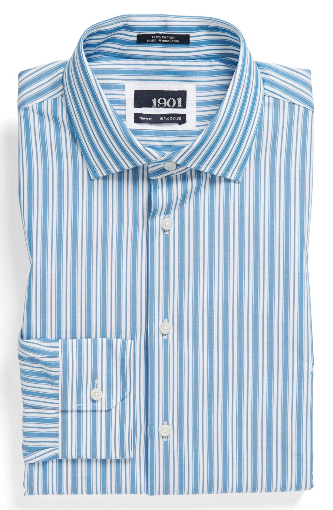 Alternate Image 1 Selected - 1901 Trim Fit Stripe Dress Shirt
