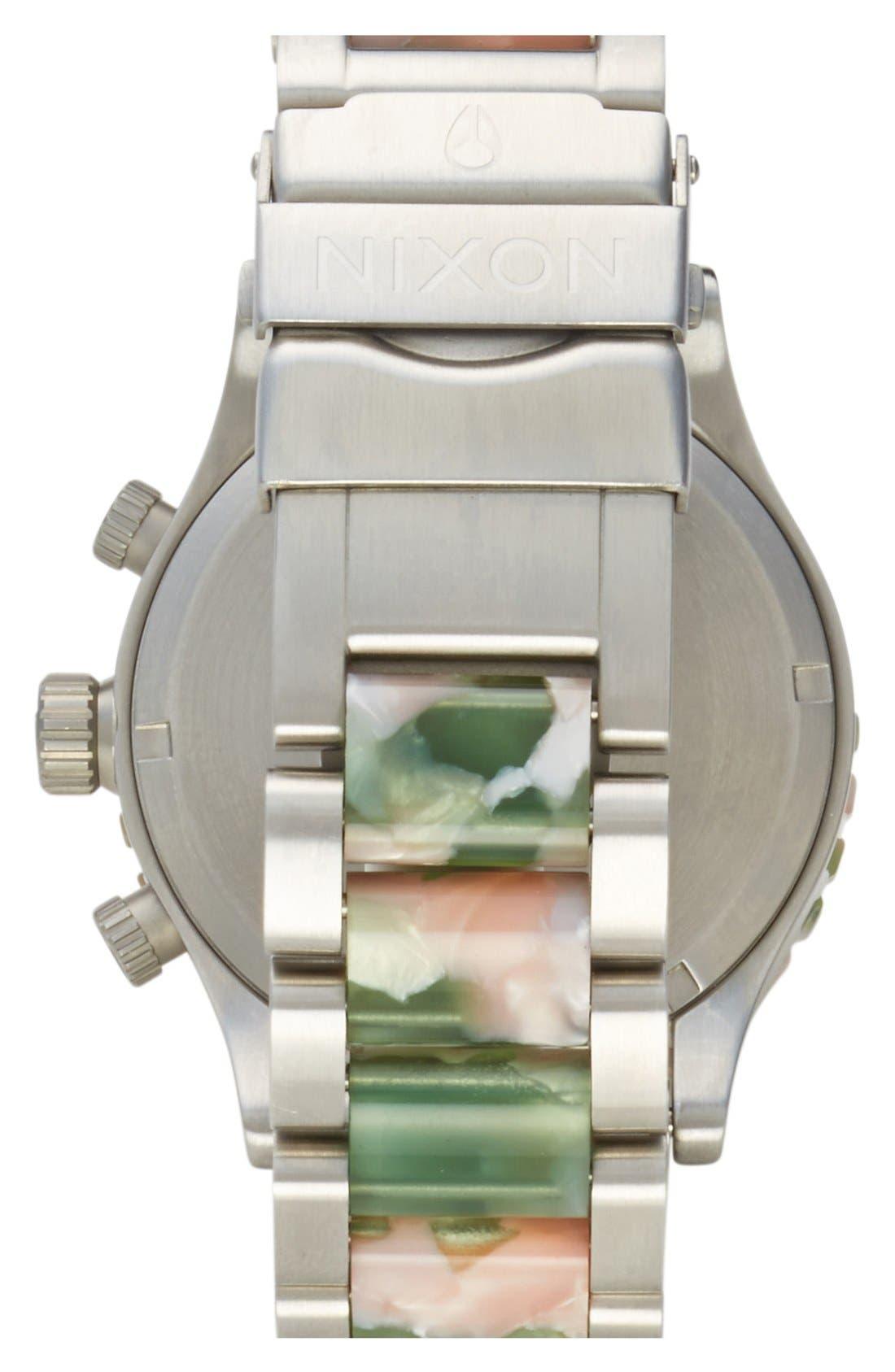 Alternate Image 2  - Nixon 'The 42-20 Chrono Watercolor' Bracelet Watch, 42mm