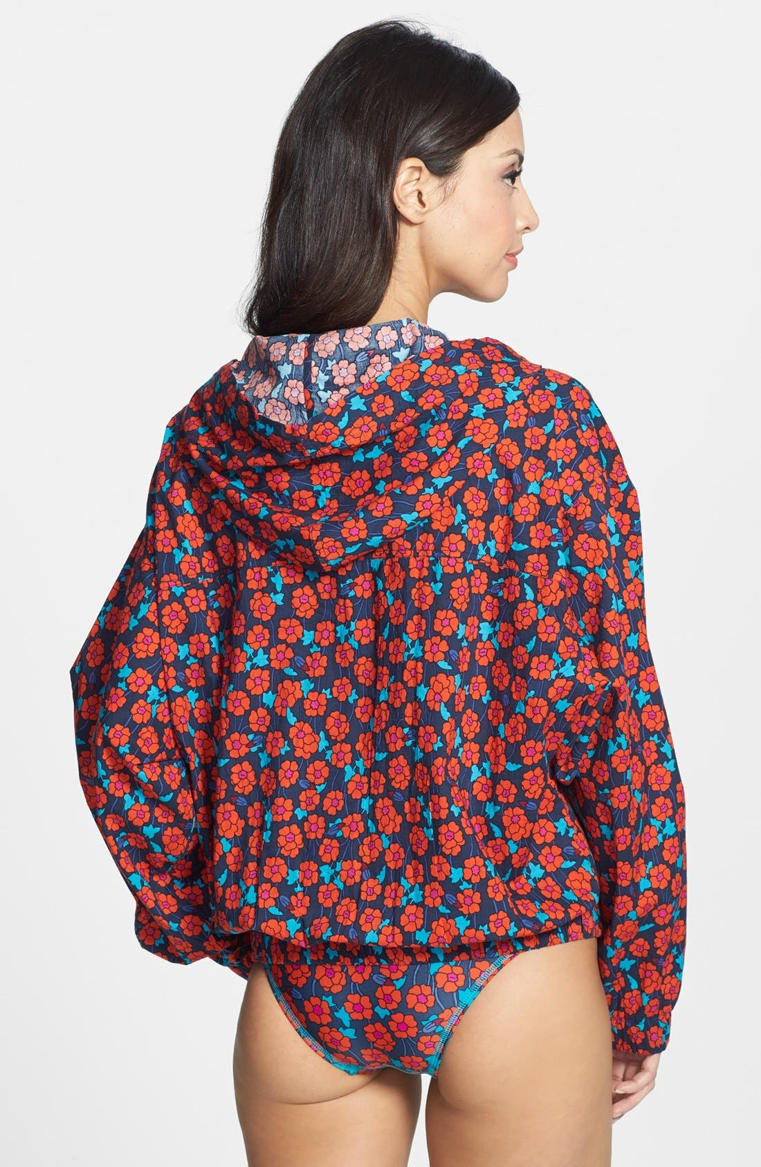 Alternate Image 2  - MARC BY MARC JACOBS 'Maysie Floral' Hooded Cover-Up Jacket