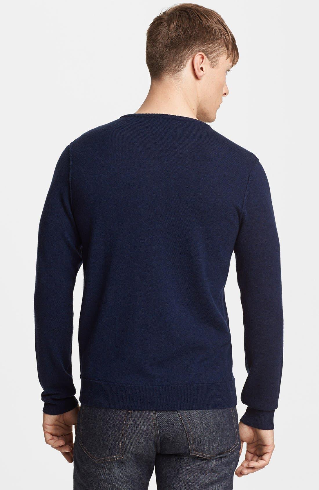 Alternate Image 2  - rag & bone 'Abingdon' V-Neck Merino Wool Sweater