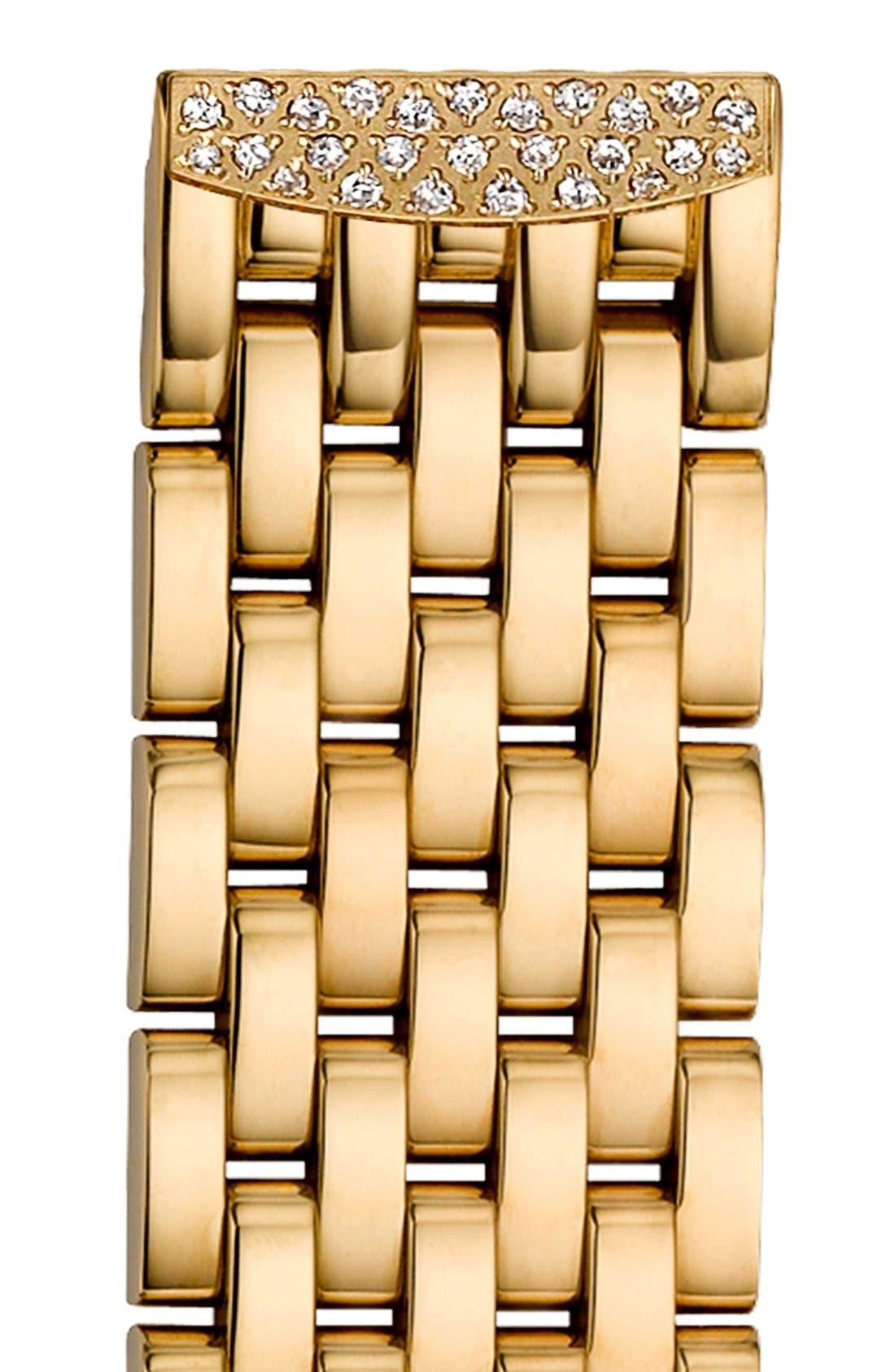 Alternate Image 1 Selected - MICHELE 'Urban Mini Diamond' 16mm Gold Plated Bracelet Watchband