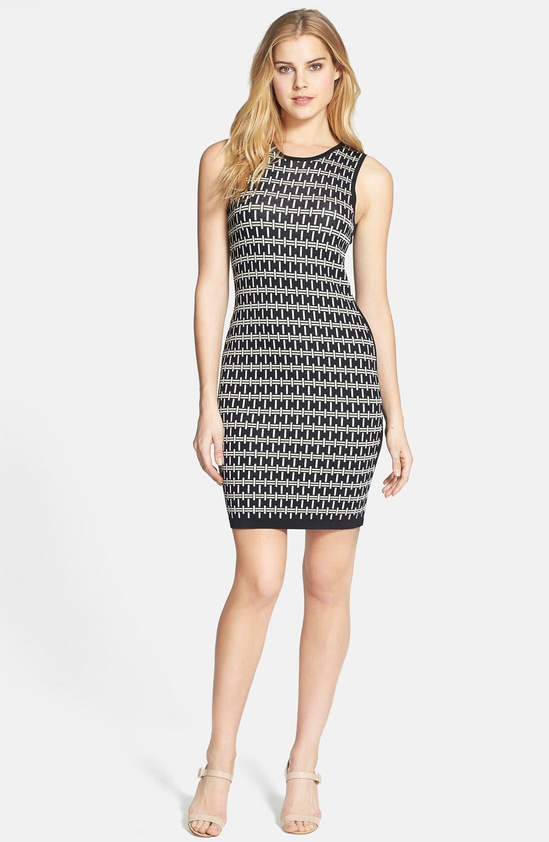 Main Image - Vince Camuto Colorblock Jacquard Dress