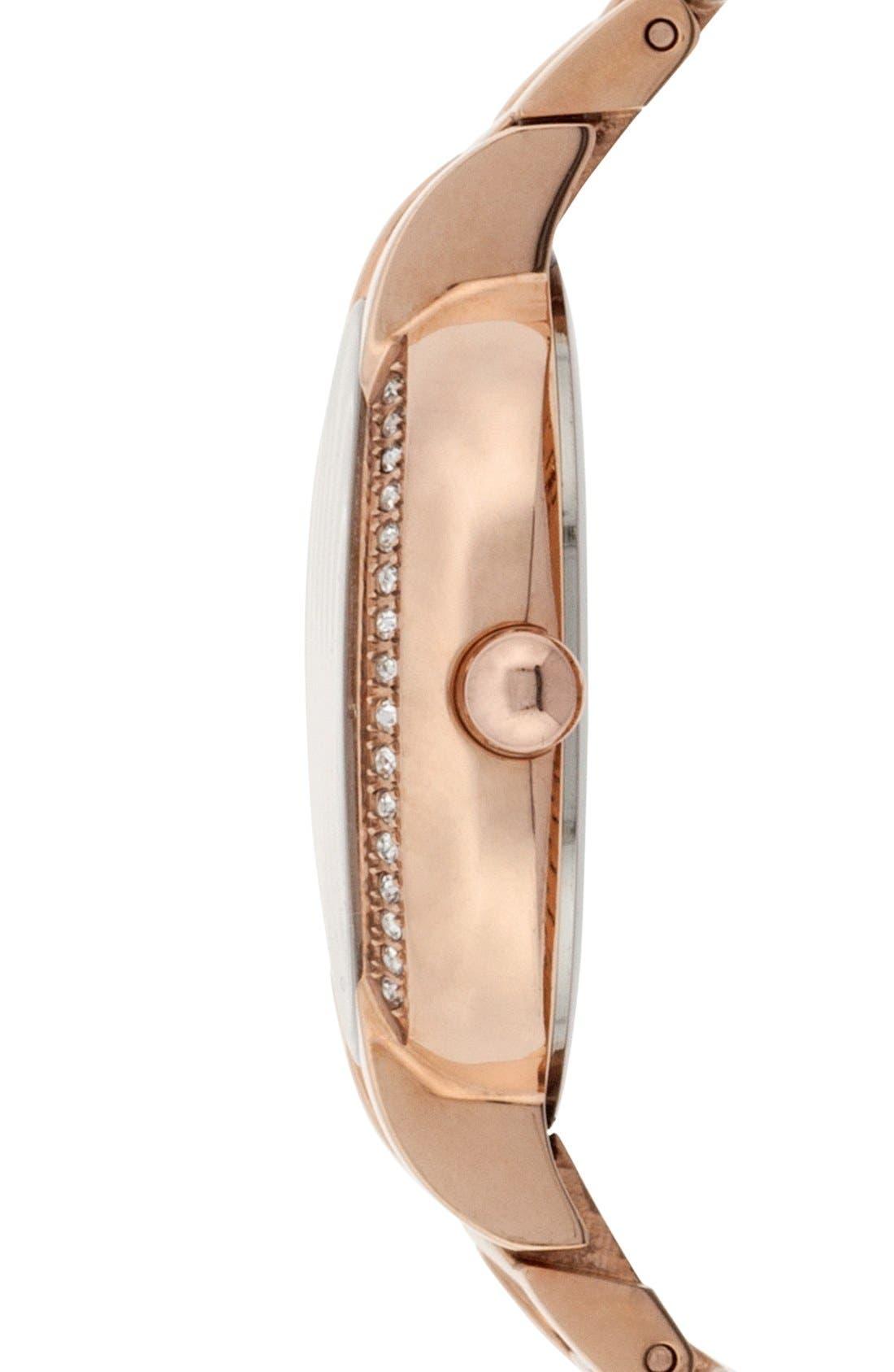 Alternate Image 3  - Isaac Mizrahi New York Crystal Bezel Bracelet Watch, 30mm