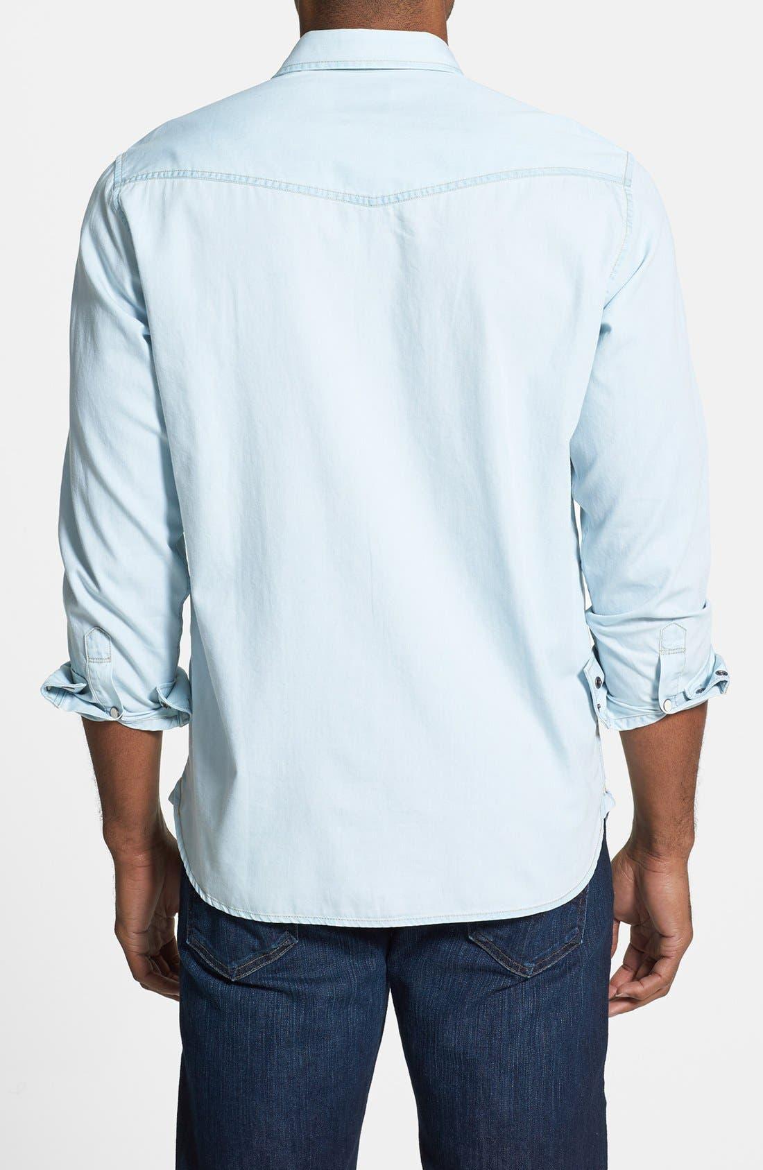 Alternate Image 2  - Tommy Bahama Denim 'By All Seams' Island Modern Fit Denim Sport Shirt