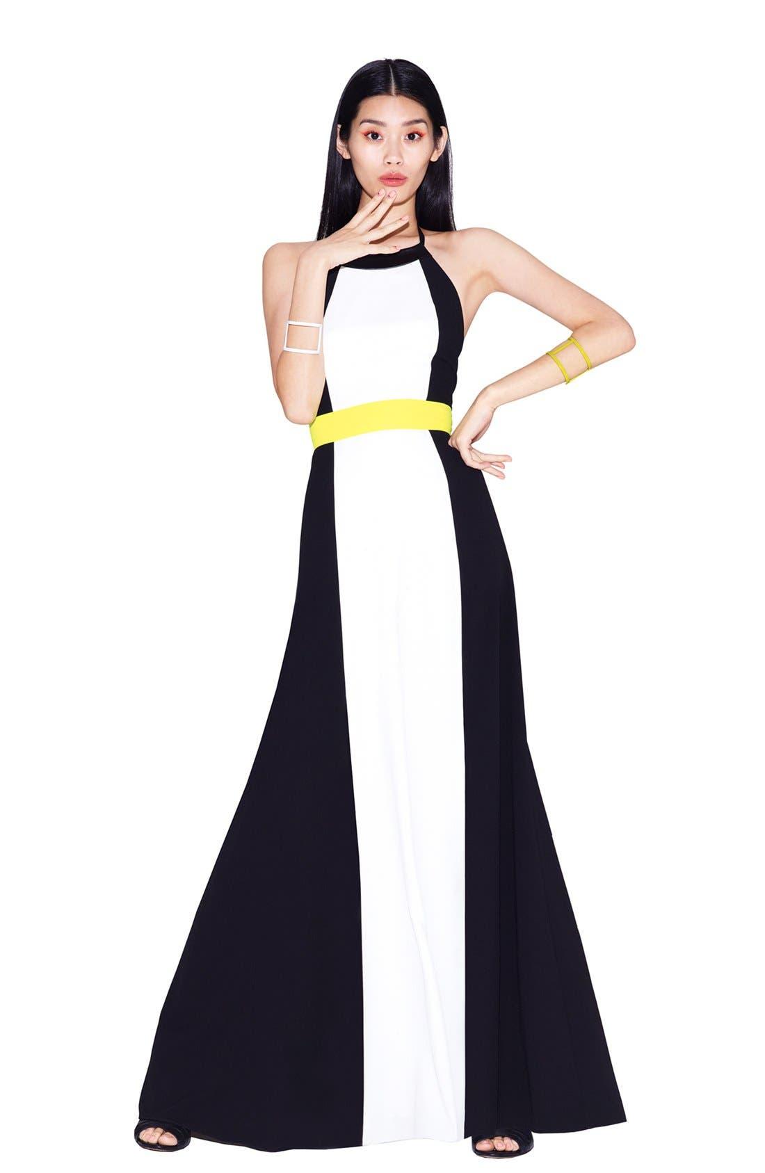 Alternate Image 4  - Vince Camuto Colorblock Halter Maxi Dress