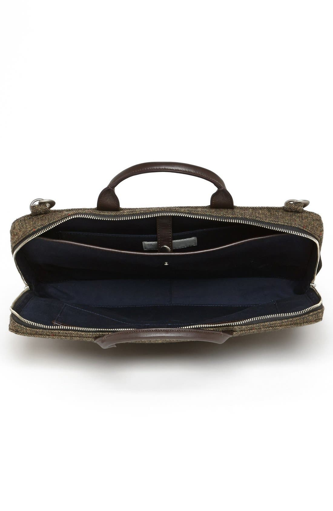 Alternate Image 3  - Jack Spade Donegal Tweed Slim Wool Briefcase