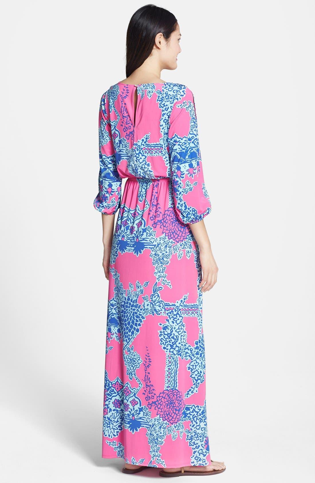 Alternate Image 2  - Lilly Pulitzer® 'Ashlynn' Print Jersey Maxi Dress
