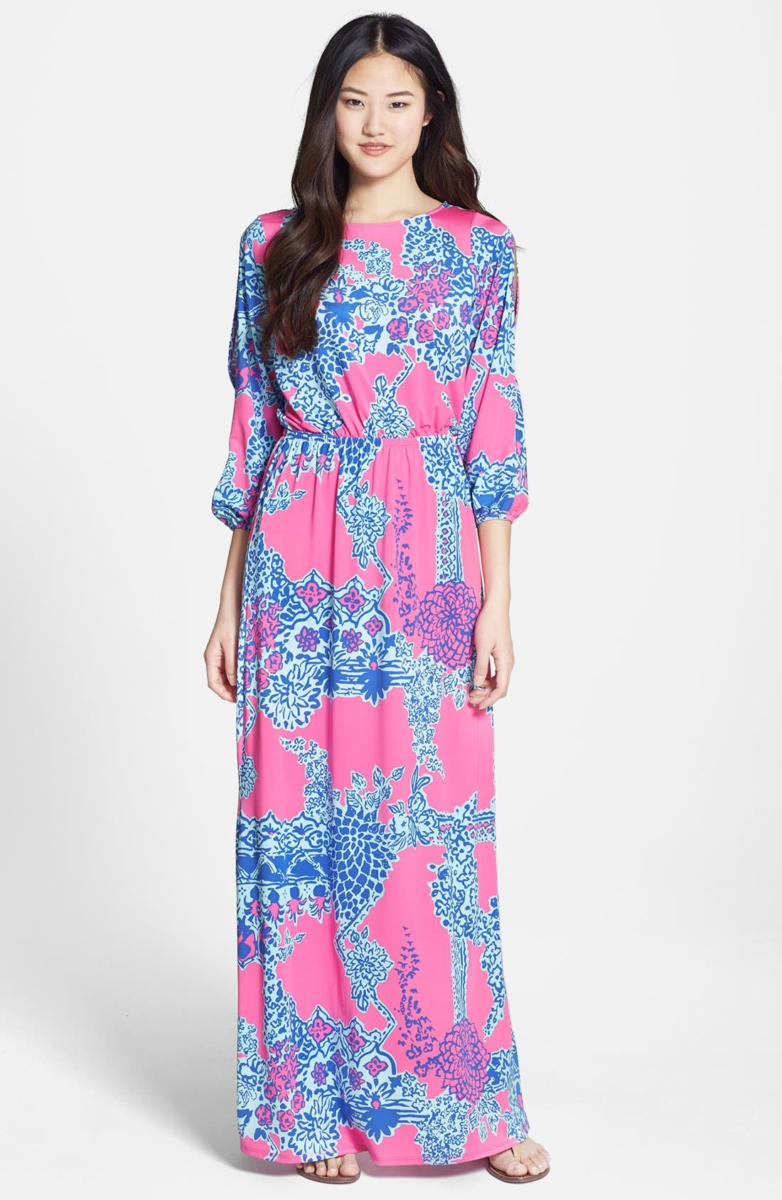 Alternate Image 1 Selected - Lilly Pulitzer® 'Ashlynn' Print Jersey Maxi Dress