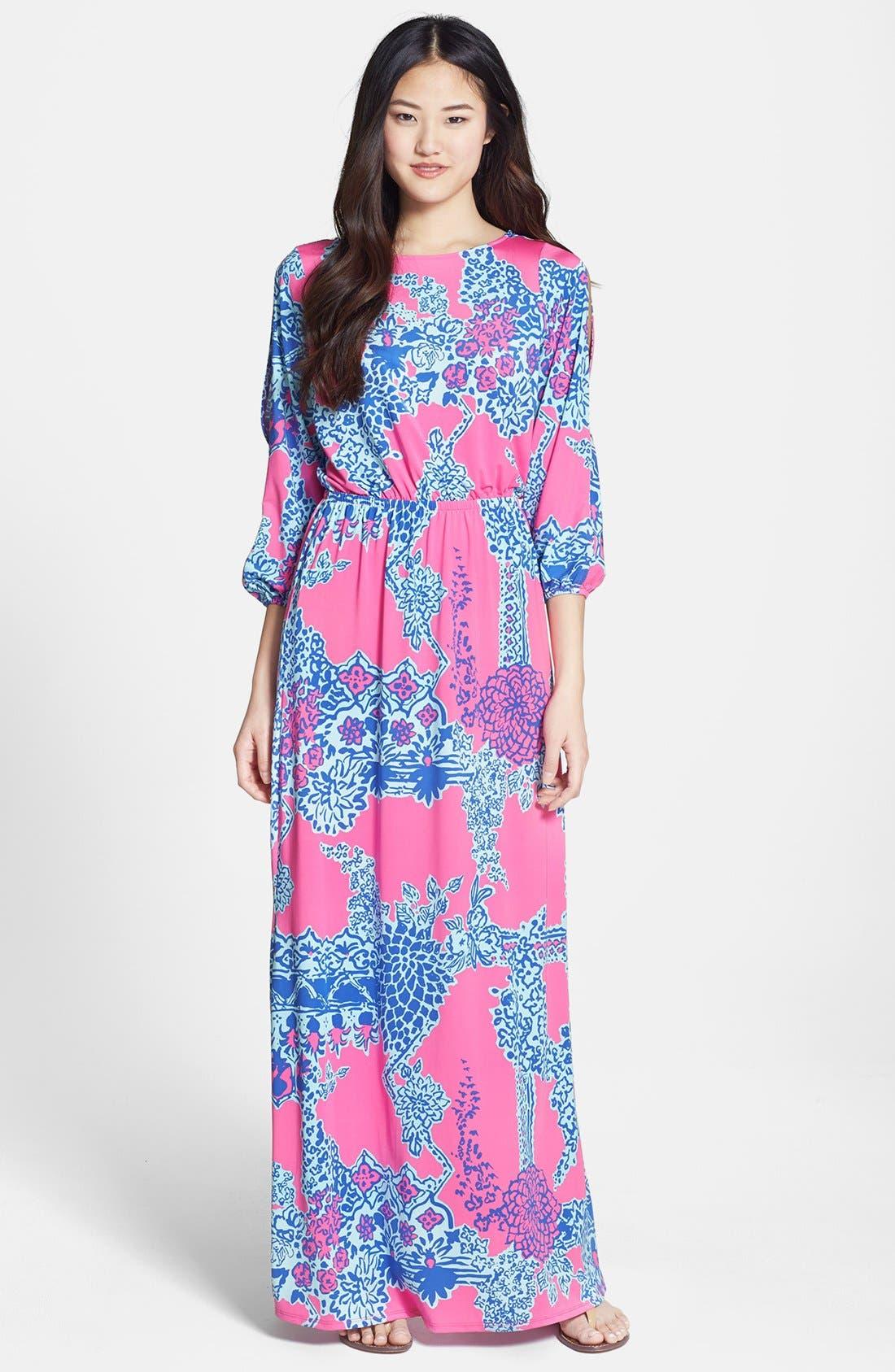 Main Image - Lilly Pulitzer® 'Ashlynn' Print Jersey Maxi Dress