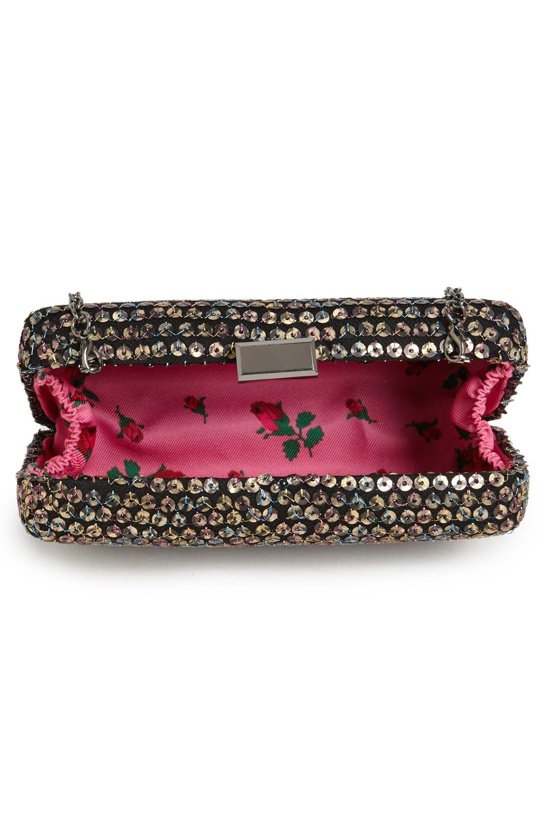 Alternate Image 3  - Betsey Johnson Sequin Clutch
