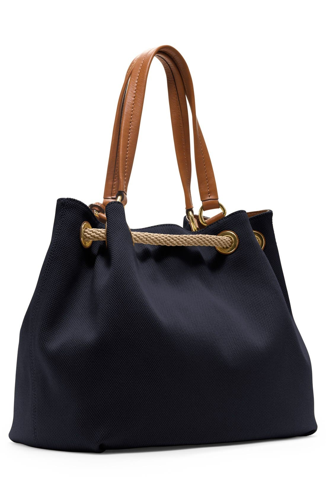 Alternate Image 4  - MICHAEL Michael Kors 'Large' Canvas Drawstring Tote