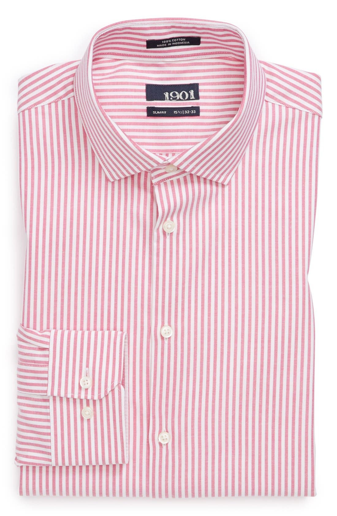 Alternate Image 1 Selected - 1901 Slim Fit Stripe Oxford Dress Shirt