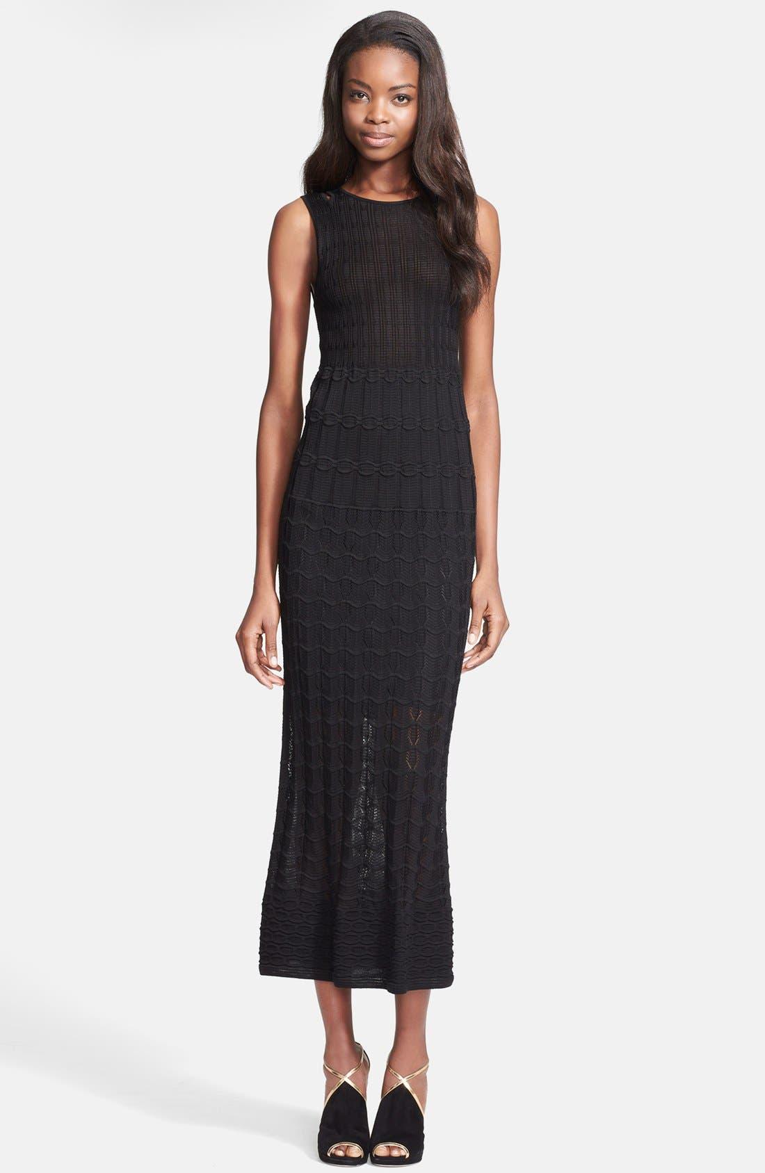 Main Image - M Missoni Knit Cotton Blend Midi Dress