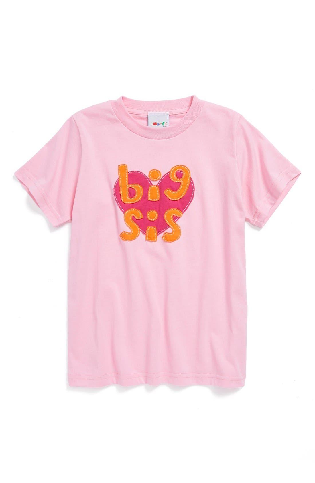 Alternate Image 1 Selected - Morfs 'Big Sis' Short Sleeve Tee (Little Girls & Big Girls)