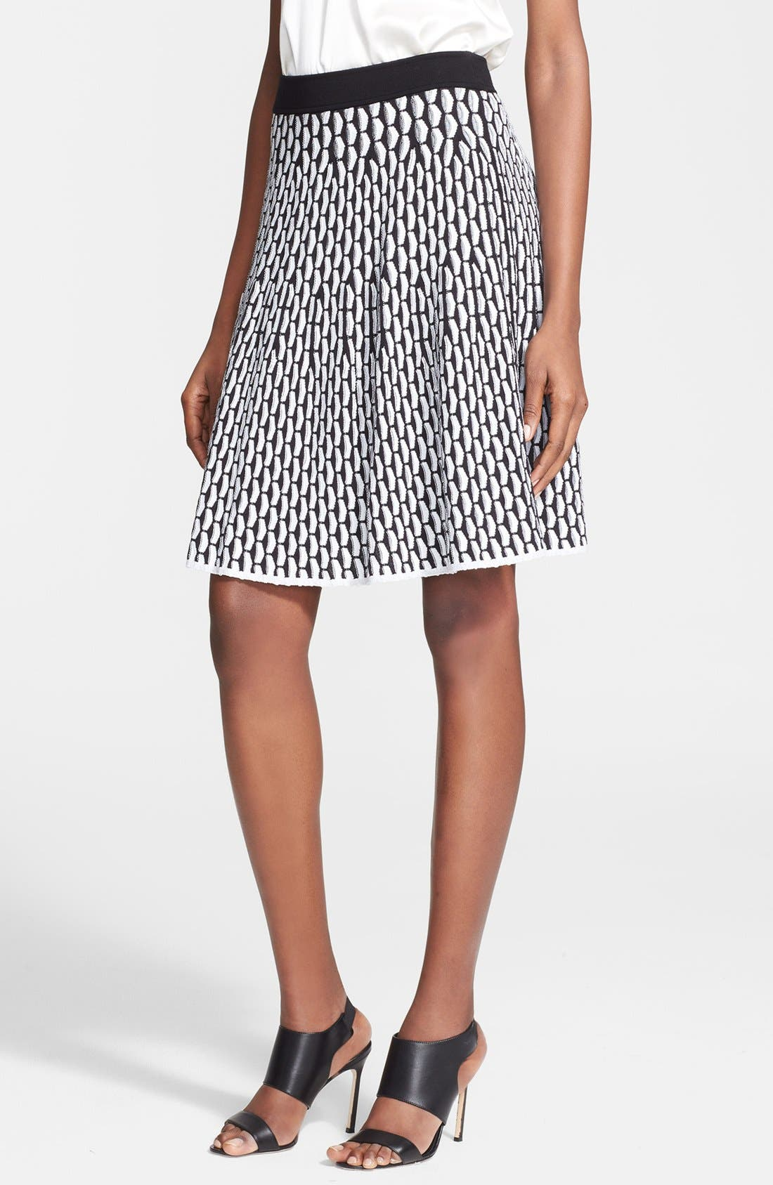 Alternate Image 1 Selected - M Missoni Fan Stitch Flared Skirt