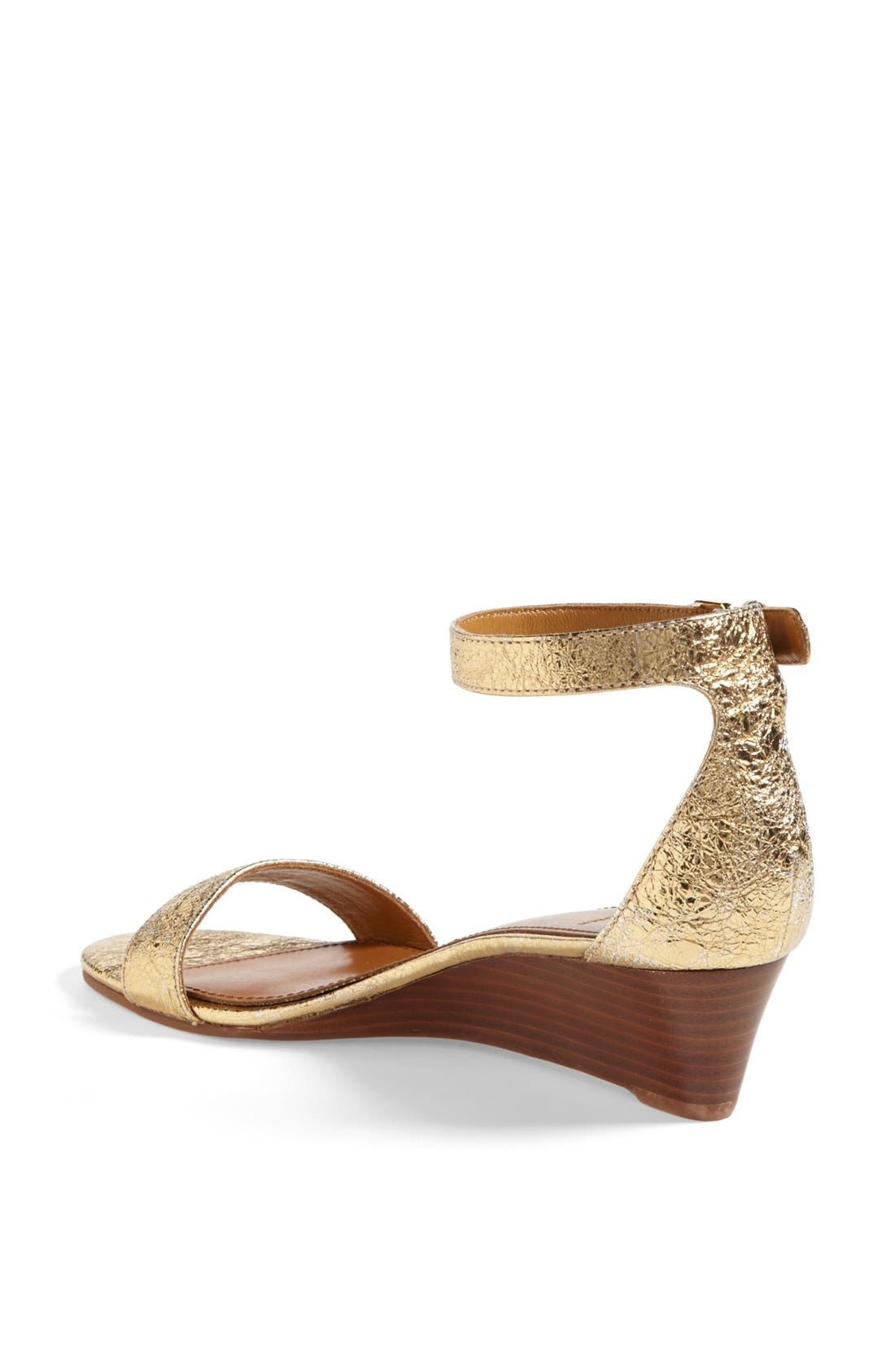 'Savannah' Wedge Sandal,                             Alternate thumbnail 2, color,                             Gold