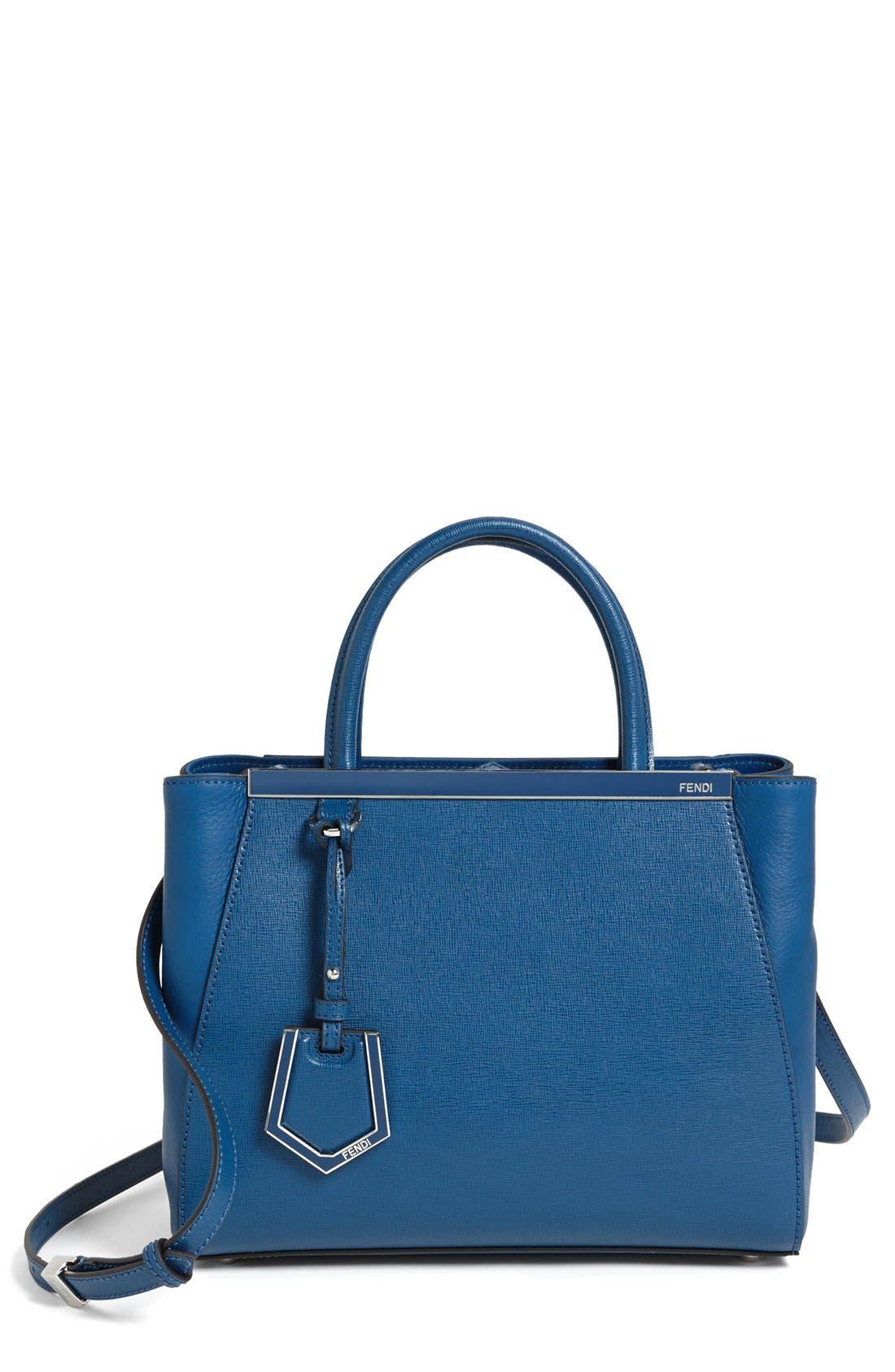Main Image - Fendi 'Petite 2Jours Elite' Leather Shopper
