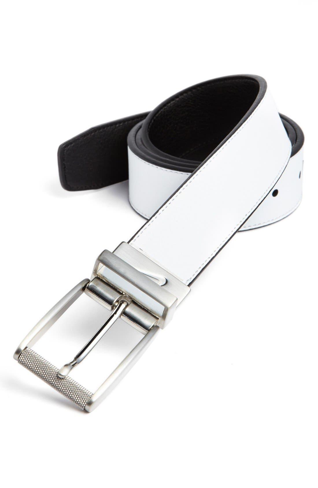 Alternate Image 2  - Nike Golf Reversible Leather Belt