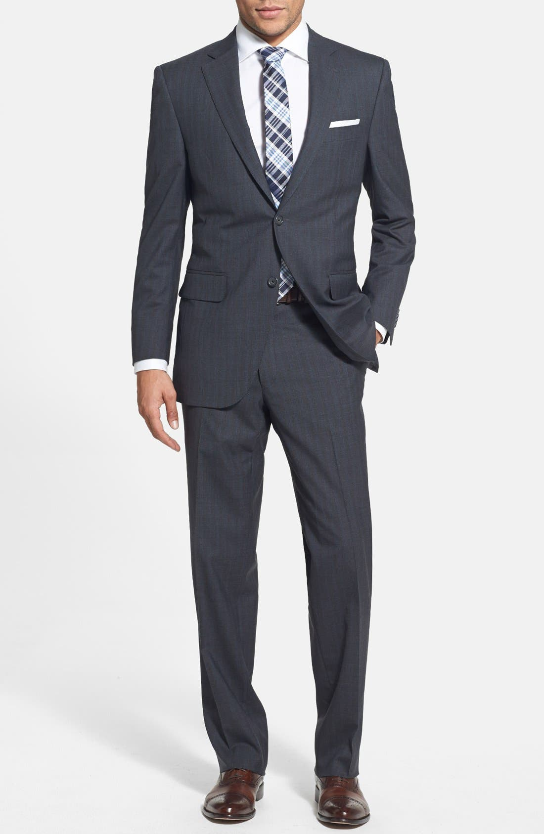 Main Image - Peter Millar Classic Fit Stripe Suit