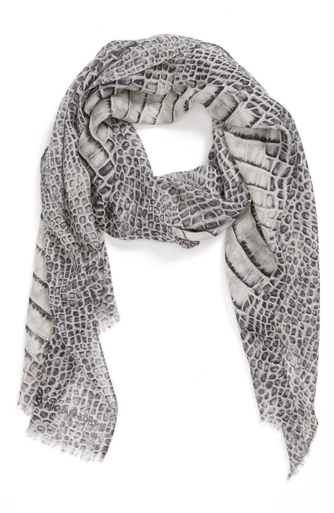 Alternate Image 1 Selected - MICHAEL Michael Kors 'Spined Croc' Wool & Silk Scarf