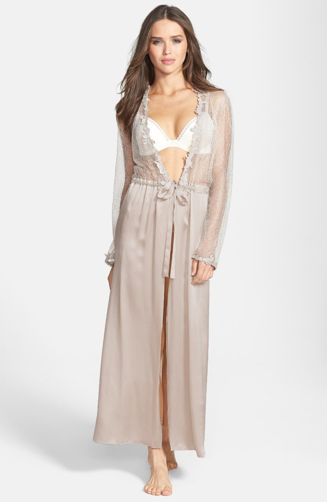 FLORA NIKROOZ Showstopper Robe in Champagne