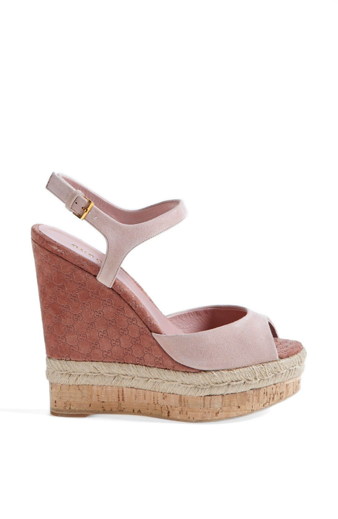 Alternate Image 4  - Gucci 'Hollie' Wedge Sandal (Women)