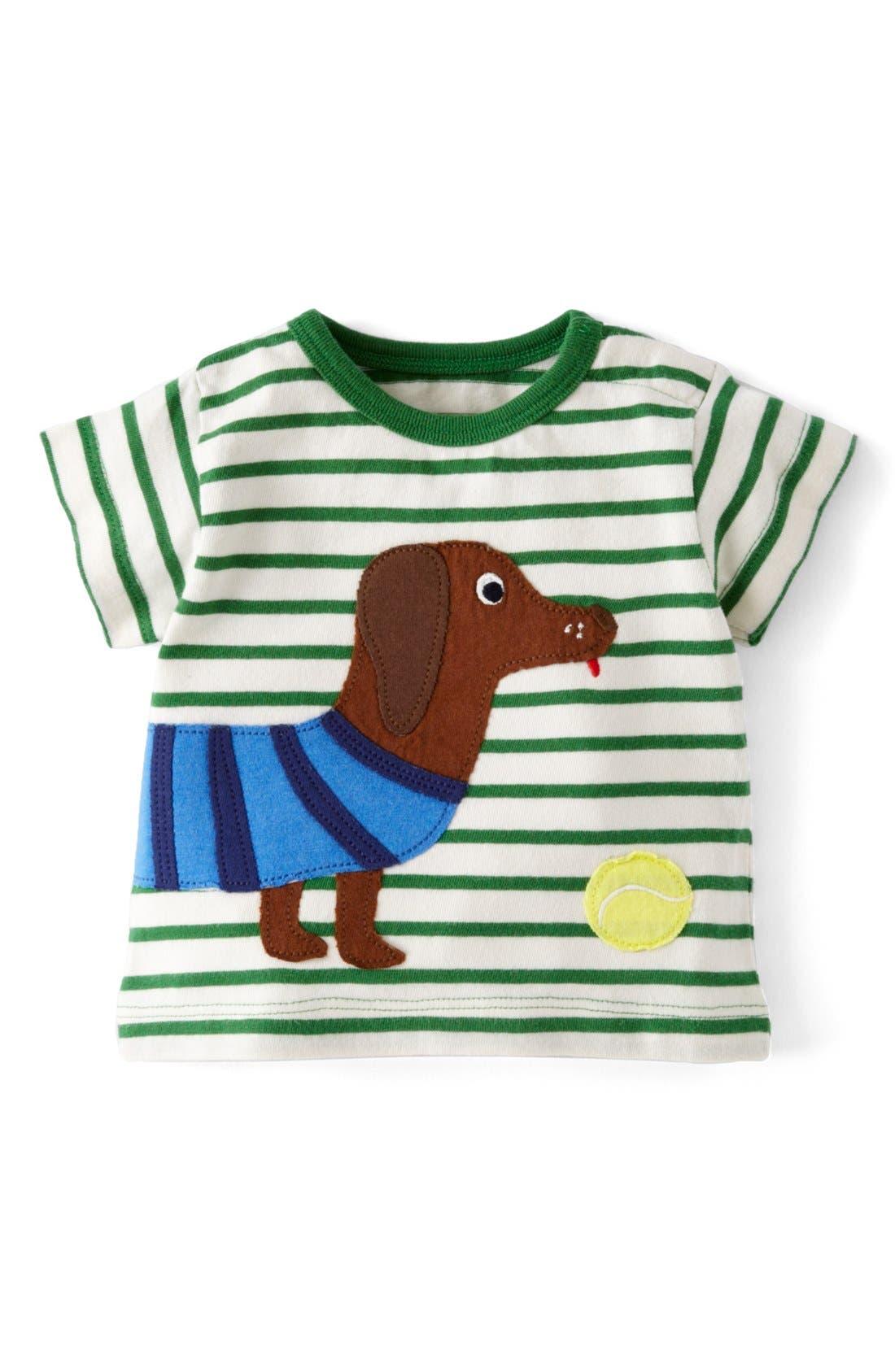 Alternate Image 1 Selected - Mini Boden 'Seaside' Cotton T-Shirt (Baby Boys)