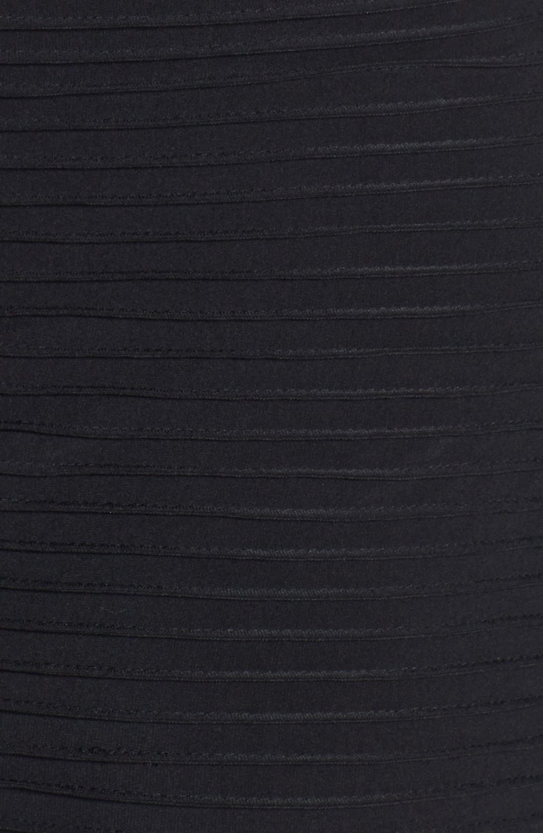 Alternate Image 3  - Calvin Klein Illusion Yoke & Sleeve Matte Jersey Sheath Dress (Plus Size)