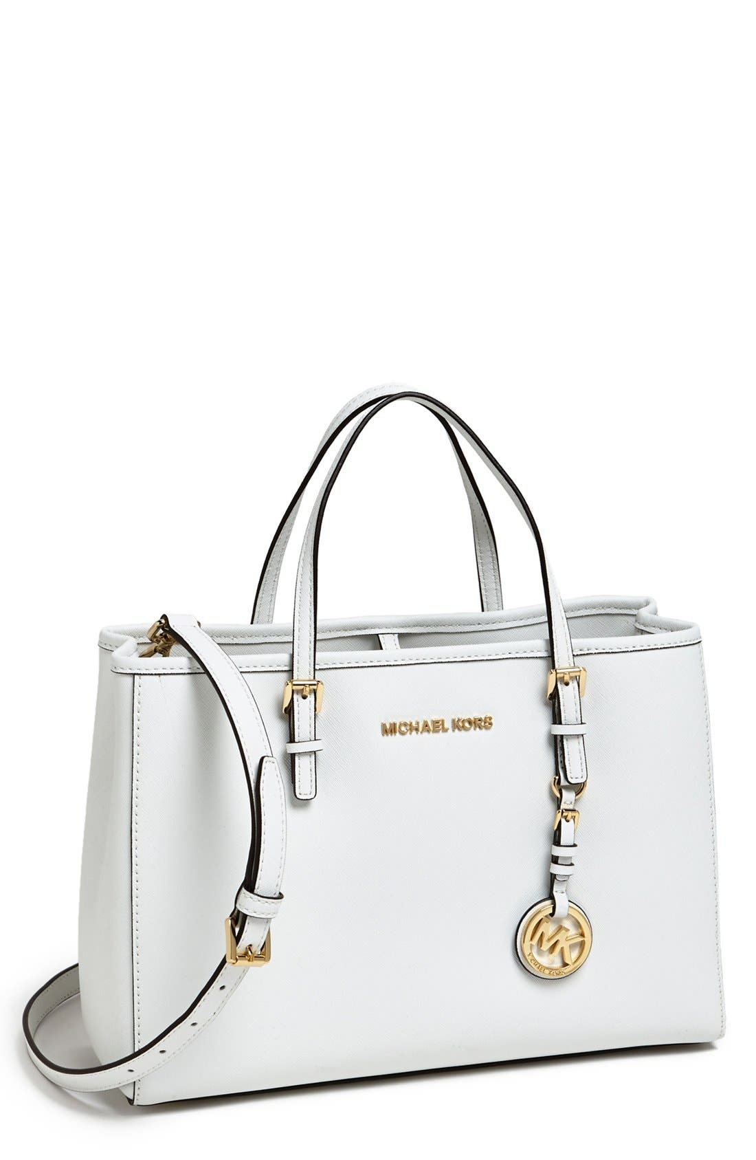 Main Image - MICHAEL Michael Kors 'Jet Set' East/West Saffiano Leather Tote