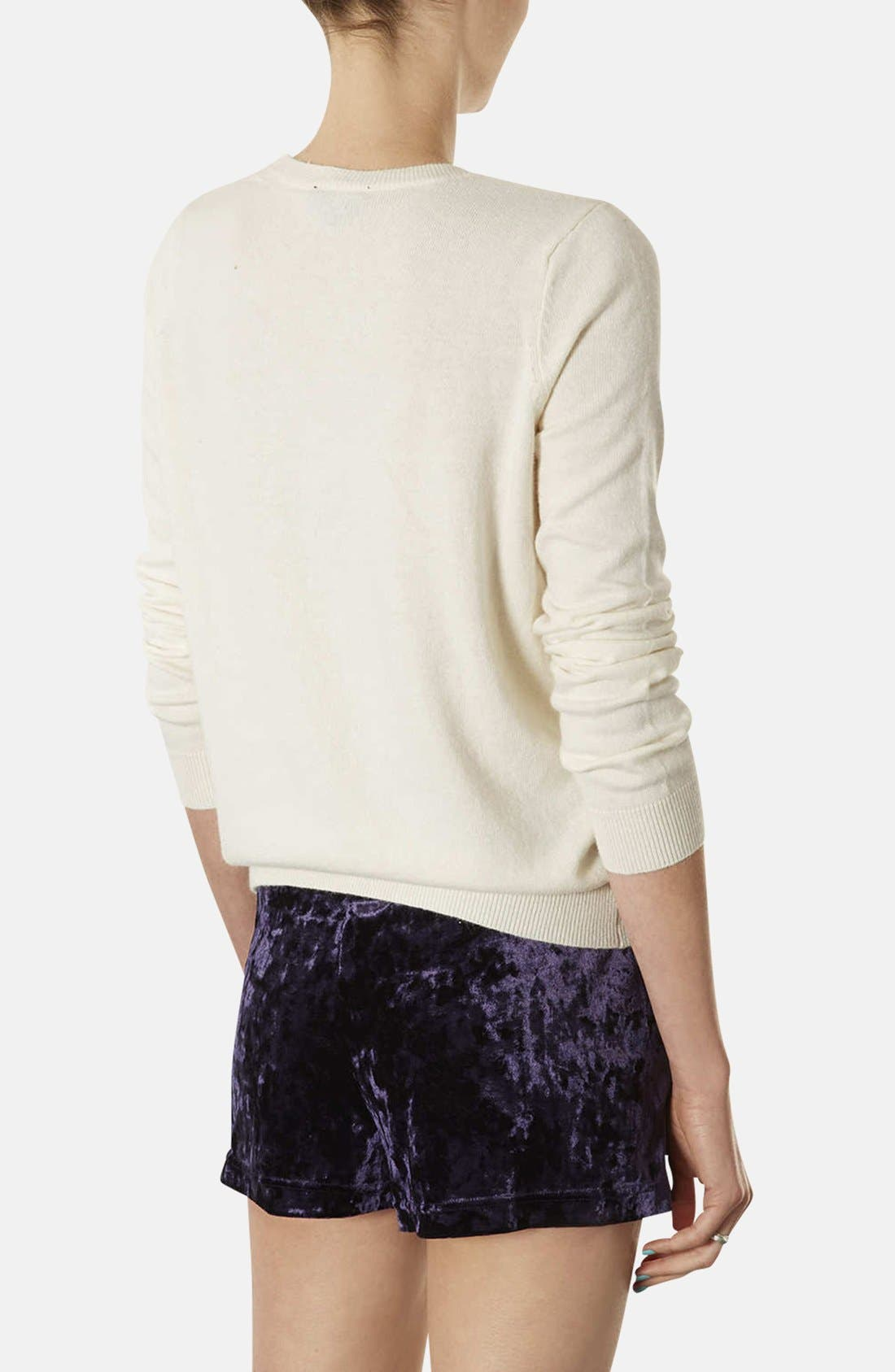 Alternate Image 2  - Topshop Embellished Knit Sweater