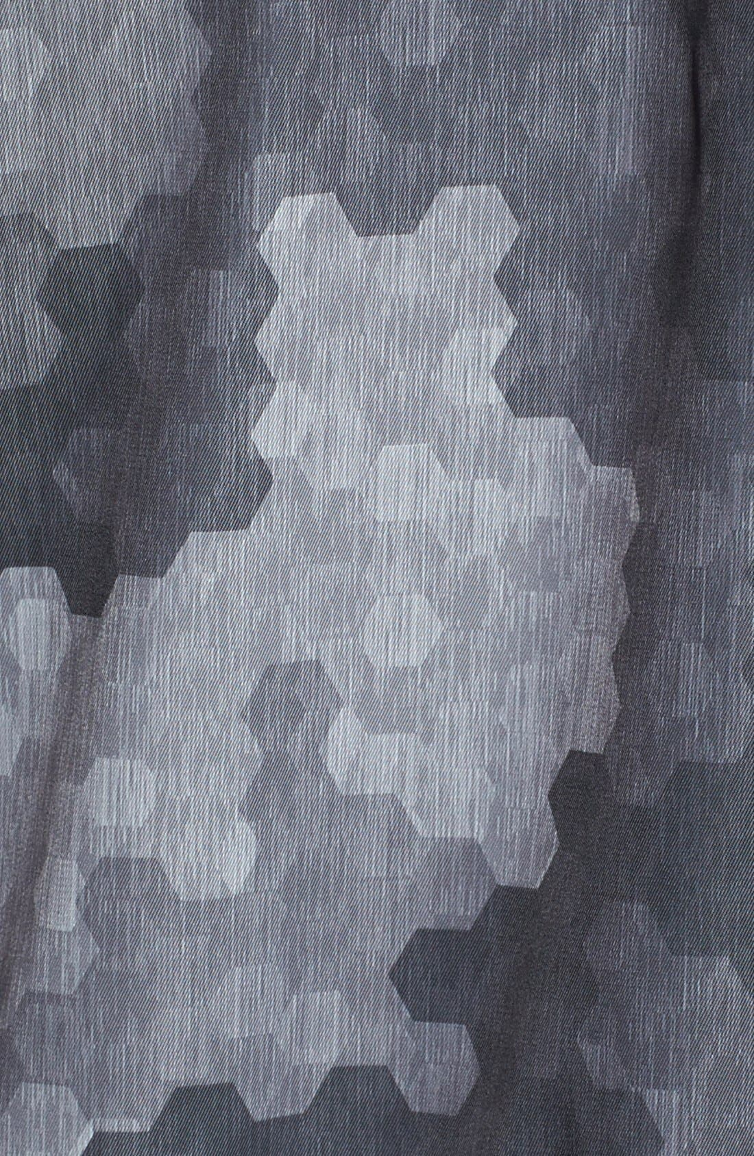 HUGO 'Meliot' Hooded Camo Trench Coat,                             Alternate thumbnail 3, color,                             Grey Camo