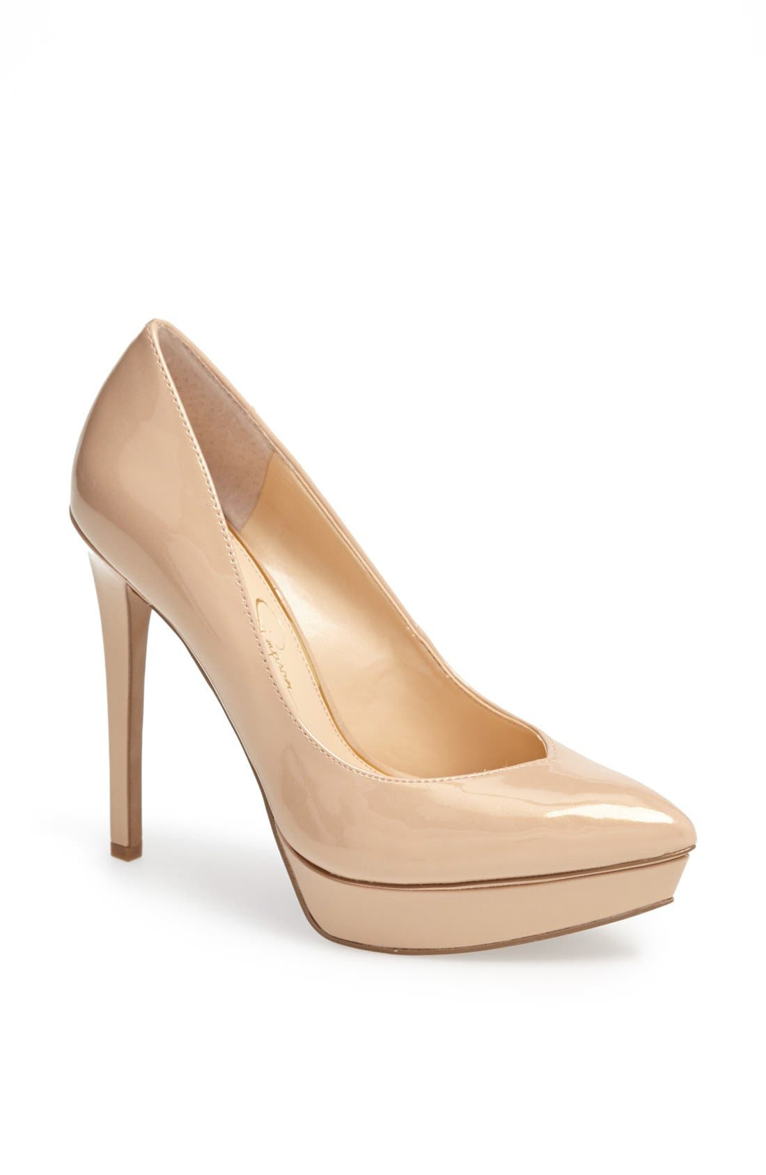 Alternate Image 1 Selected - Jessica Simpson 'Venisse' Platform Pump