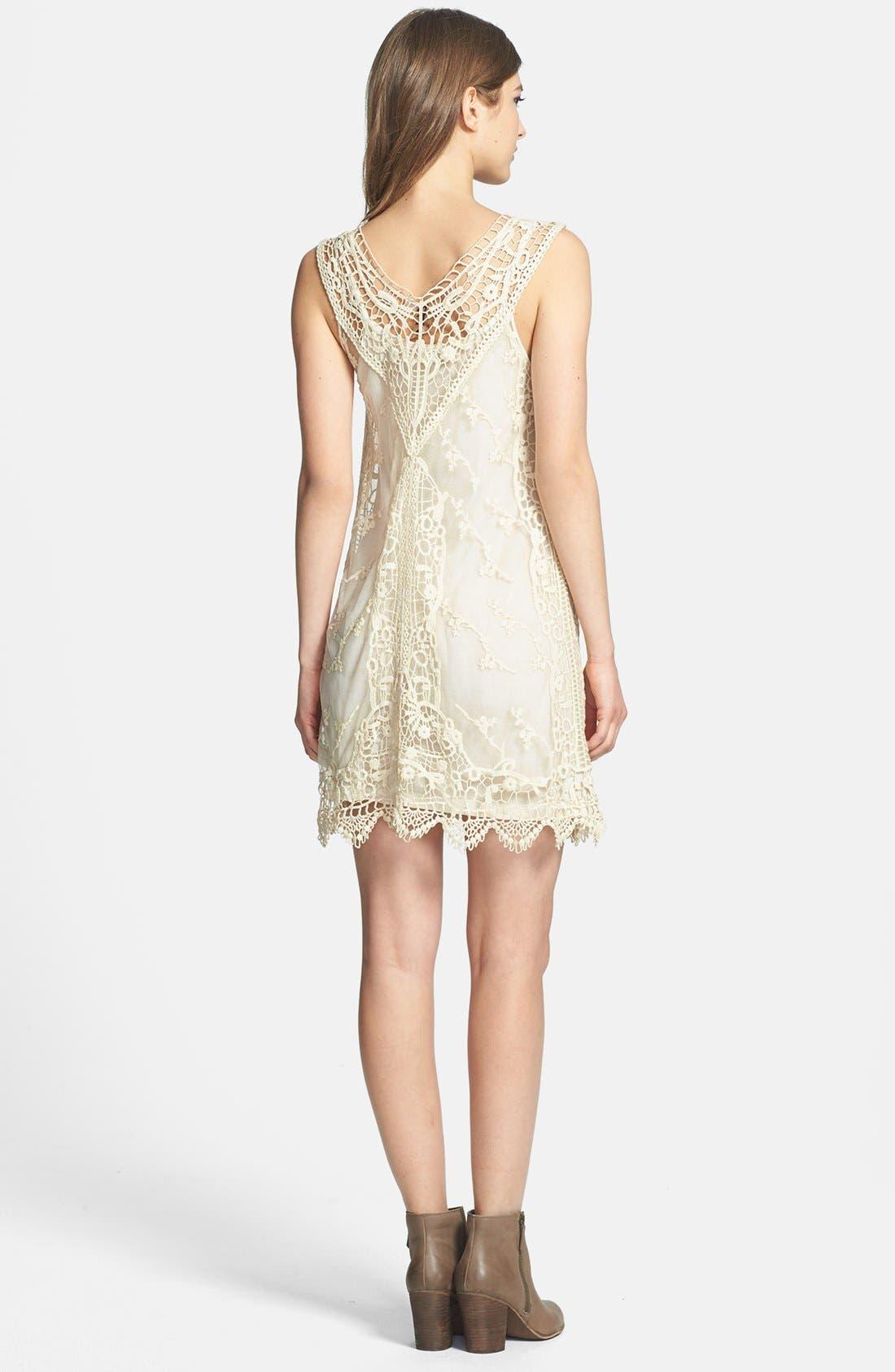 Alternate Image 3  - Black Swan Lace Shift Dress