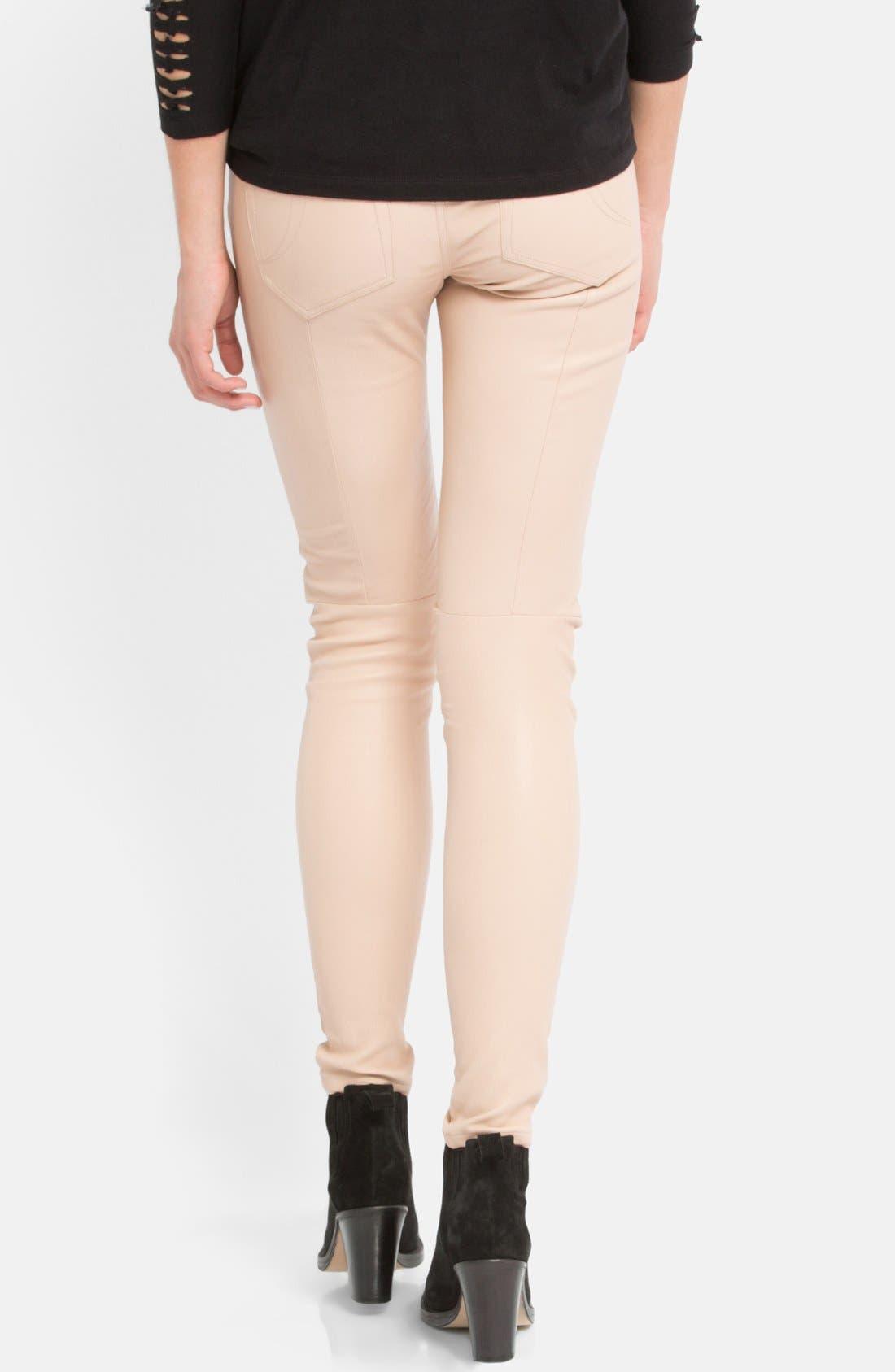 Alternate Image 2  - maje 'Daft' Leather Pants