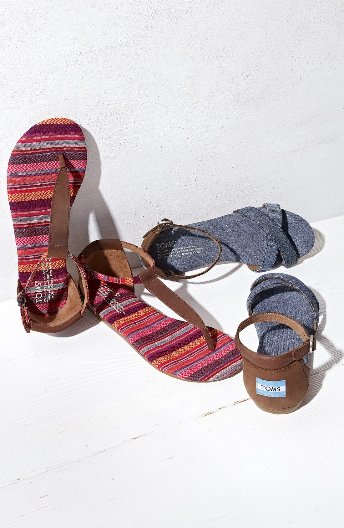 Alternate Image 5  - TOMS 'Playa' T-Strap Flat Sandal