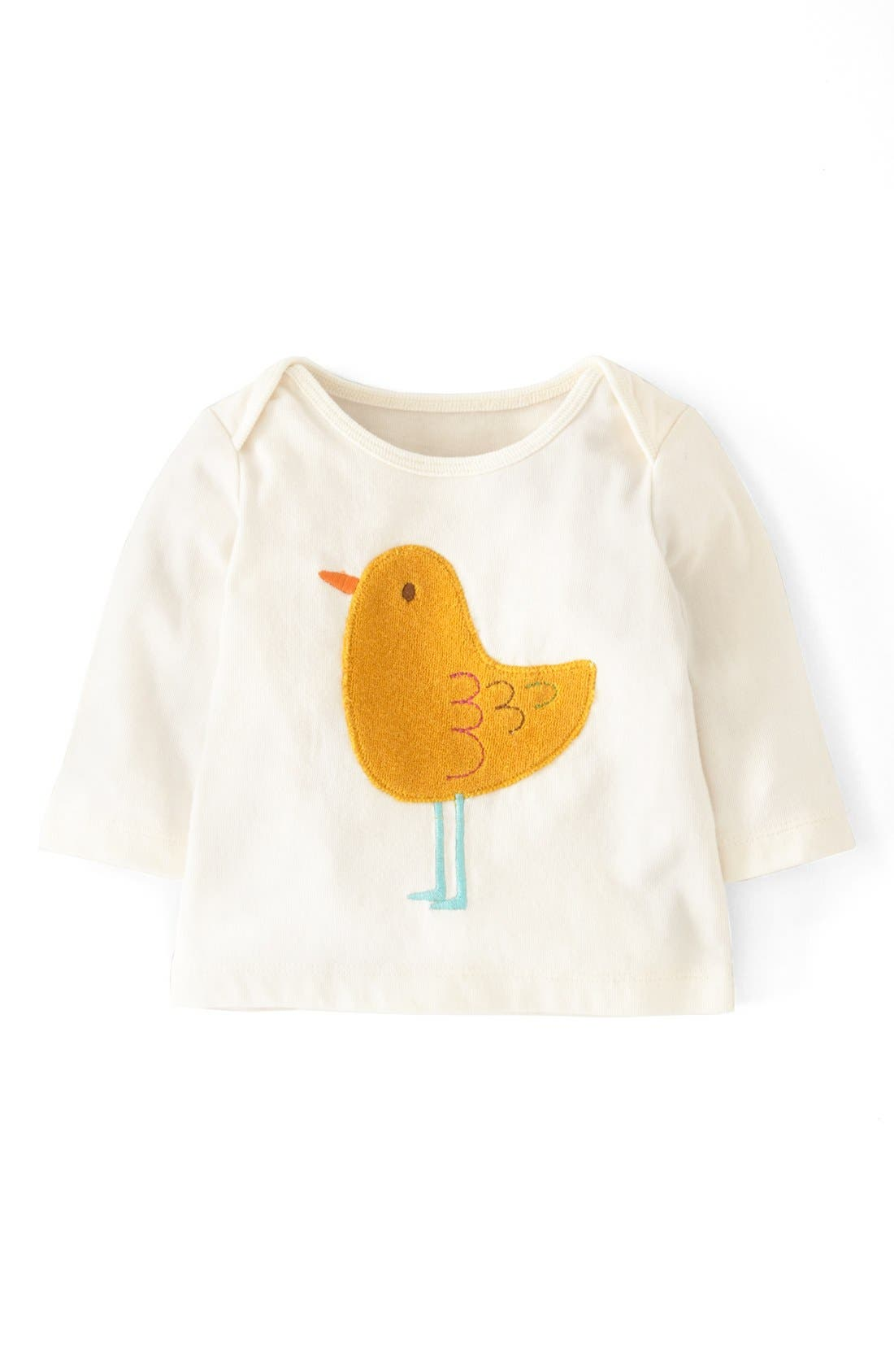 Main Image - Mini Boden 'Sweet Appliqué' Tee (Baby Girls)