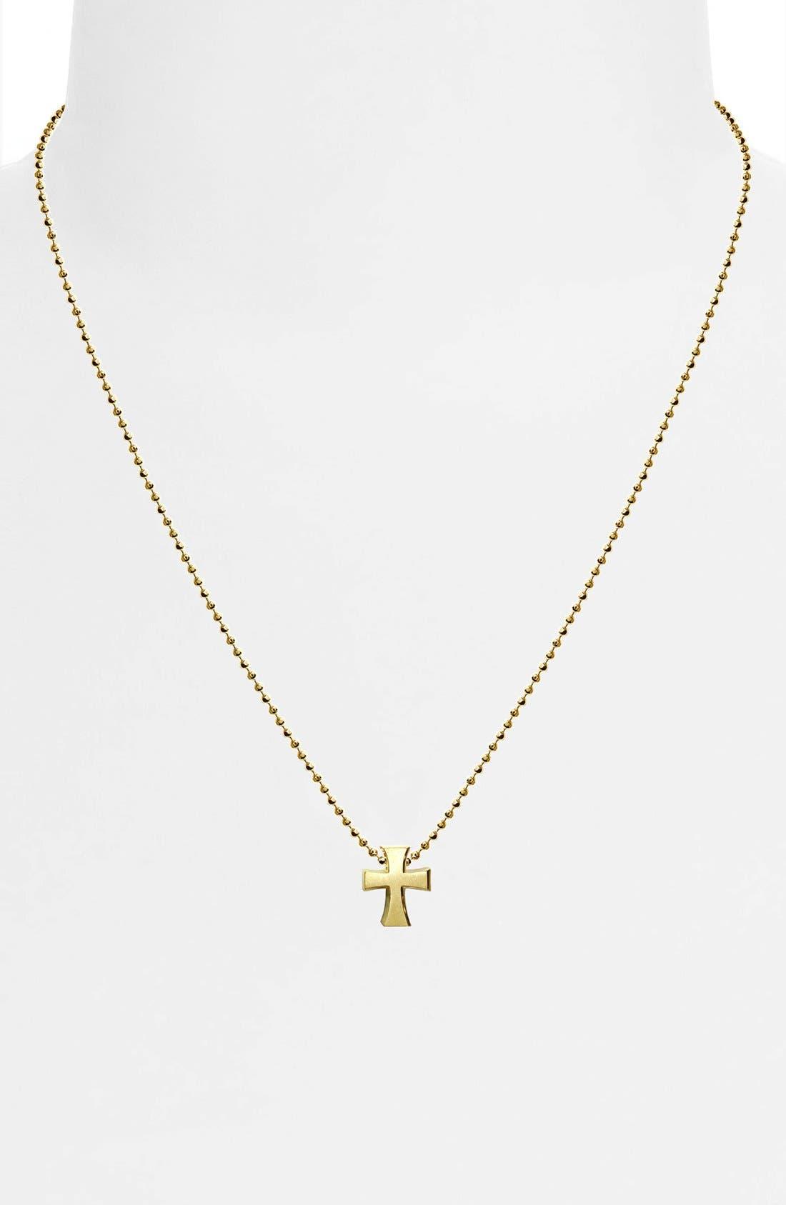 Alternate Image 2  - Alex Woo 'Little Faith' Cross Pendant Necklace
