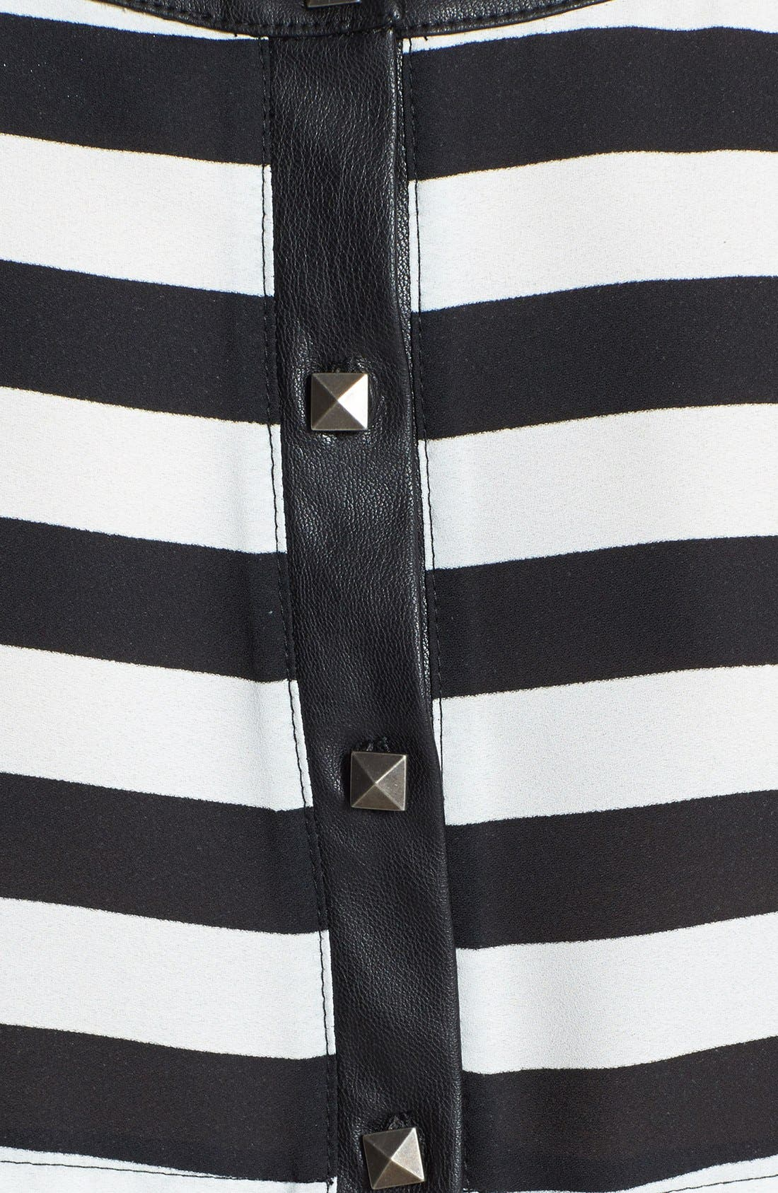 Alternate Image 3  - ASTR Back Button Stripe Tank