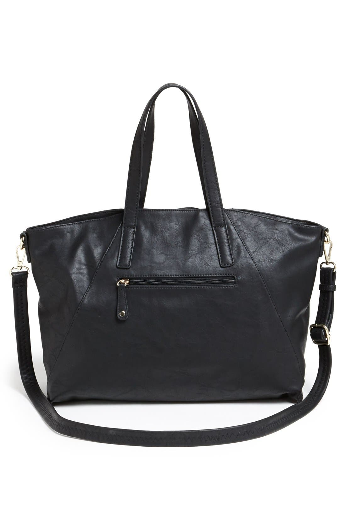 Alternate Image 4  - Emperia Faux Leather Satchel (Juniors)