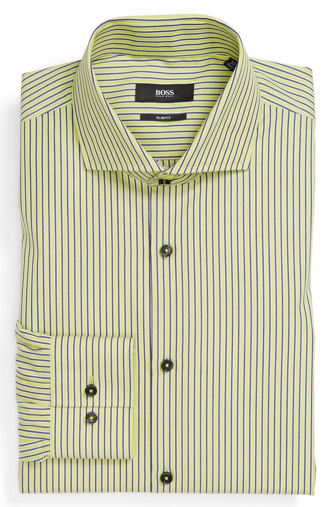Alternate Image 1 Selected - BOSS HUGO BOSS Easy Iron Slim Fit Dress Shirt