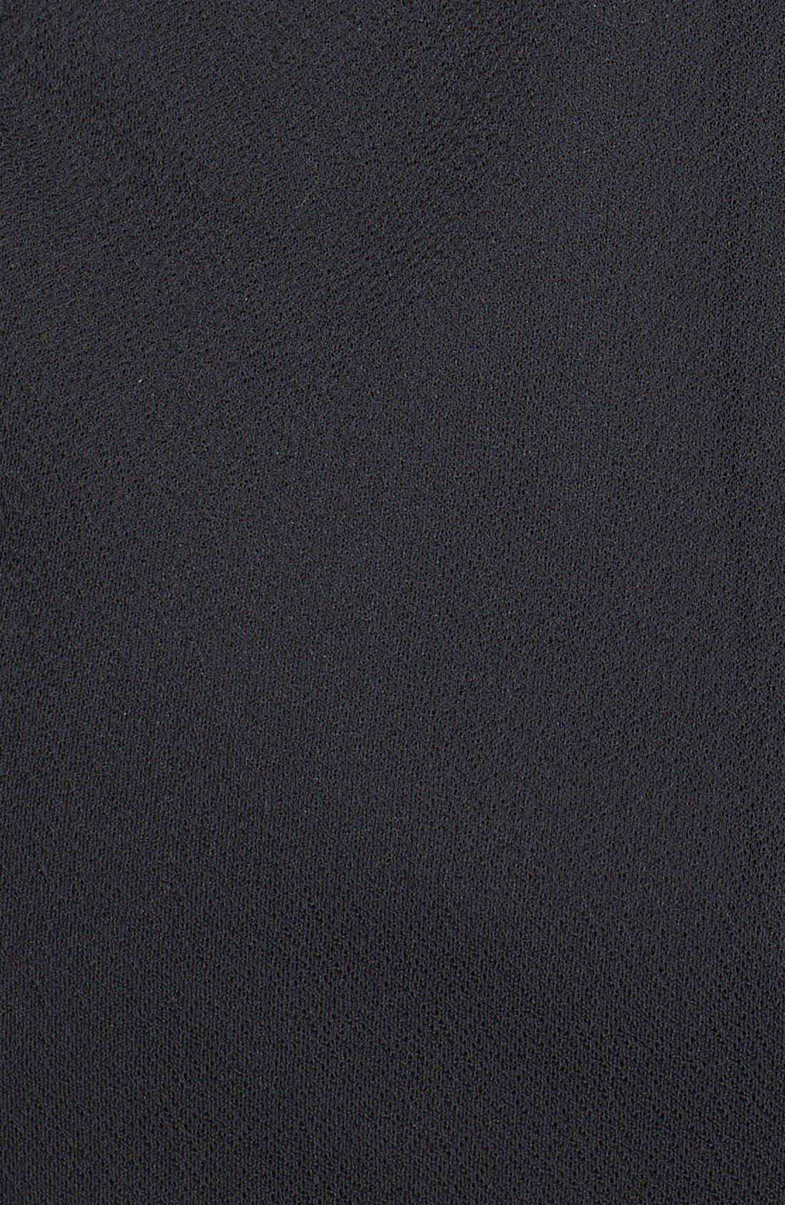 Alternate Image 3  - Maggy London Embellished Draped Mesh Dress (Petite)