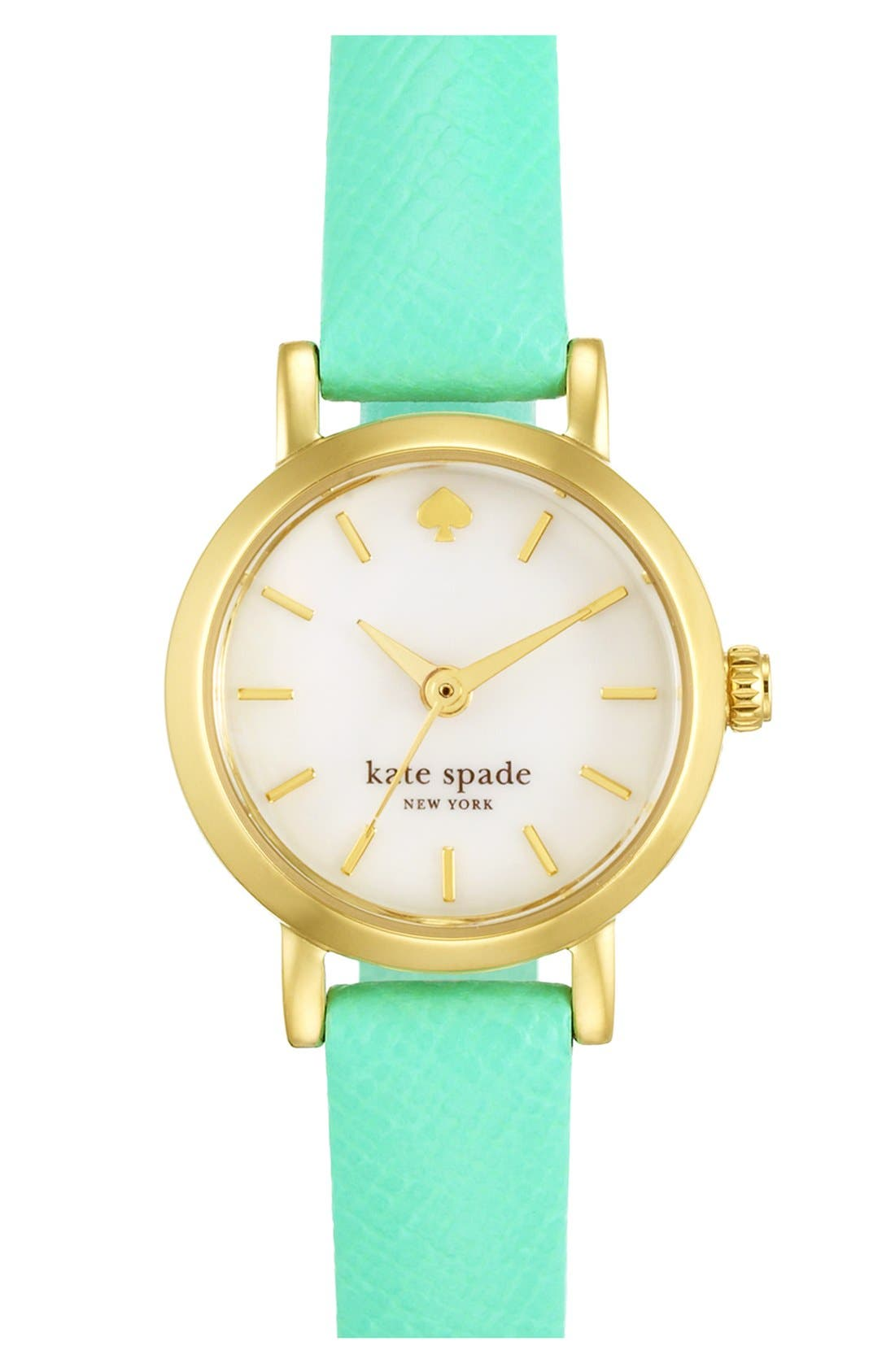 Alternate Image 1 Selected - kate spade new york 'tiny metro' leather strap watch, 20mm