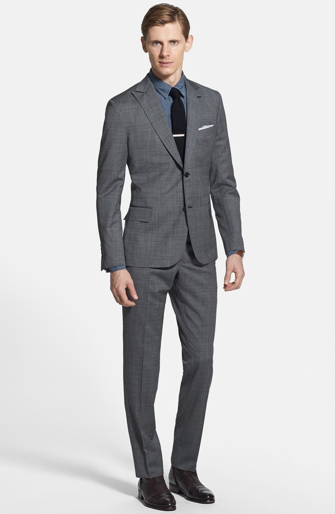 Alternate Image 1 Selected - Todd Snyder Grey Wool Suit