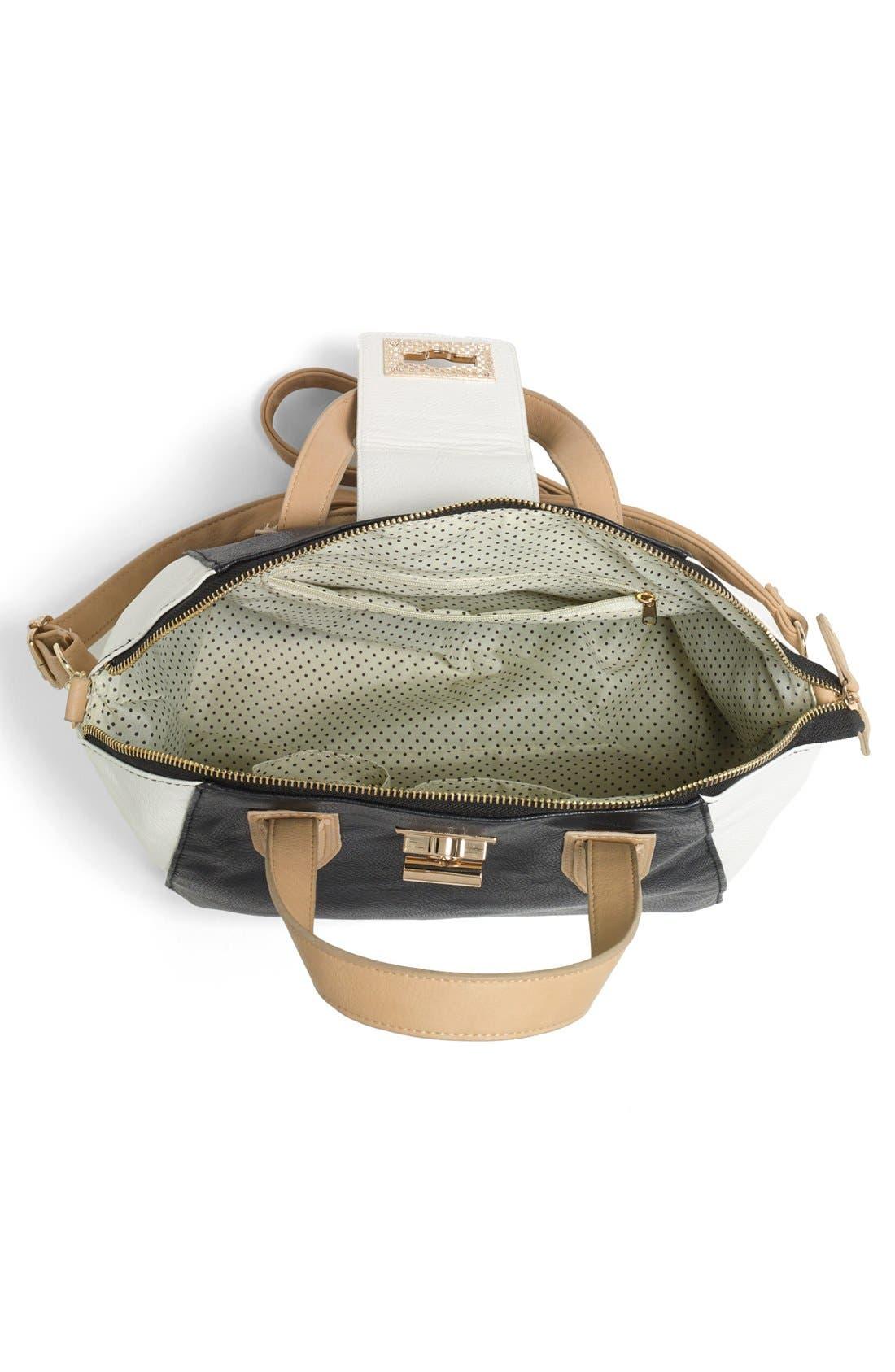 Alternate Image 3  - Under One Sky Colorblock Bowler Bag (Juniors)