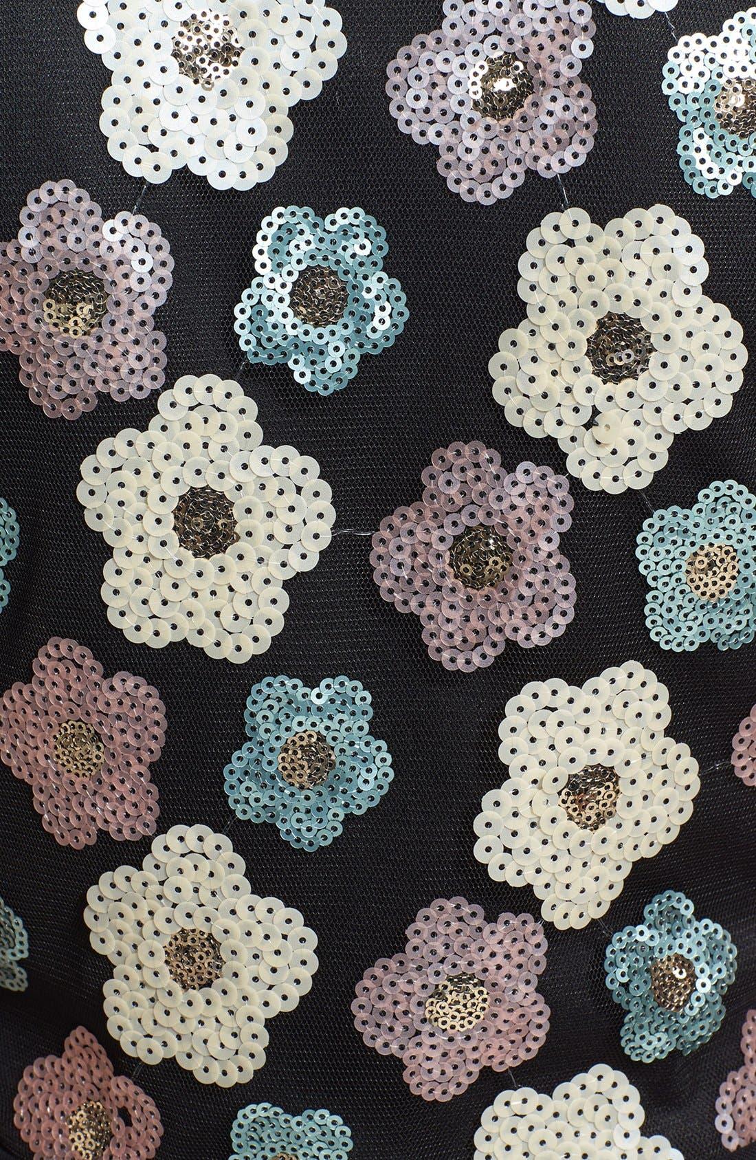 Alternate Image 3  - Tildon Sequin Floral Crop Top