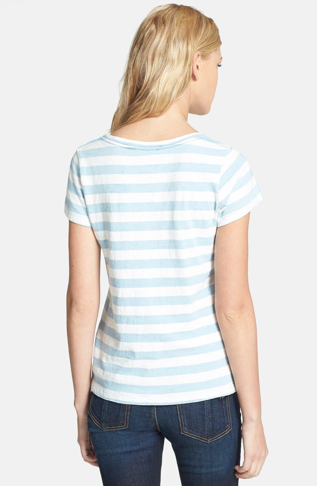 Alternate Image 2  - Splendid Stripe Cotton Boyfriend Tee