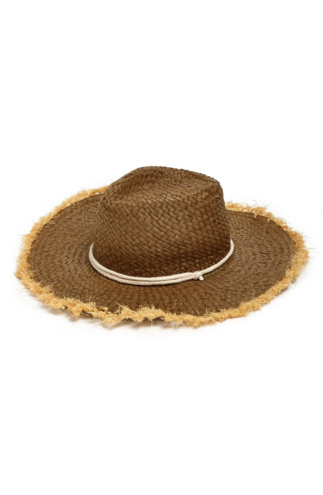 Alternate Image 1 Selected - David & Young Frayed Edge Cowboy Hat (Juniors) (Online Only)